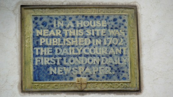Foundation plate of the Daily Courant