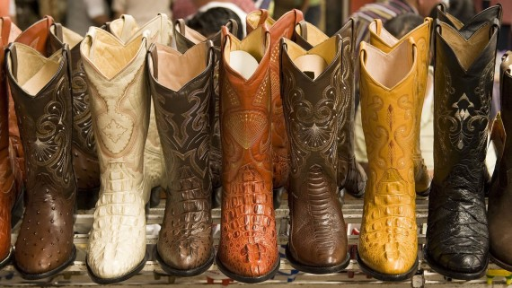 Typical cowboy outfit boots