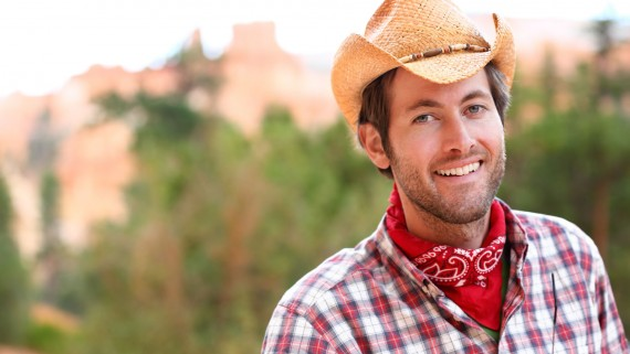 The bandana and the cowboy hat
