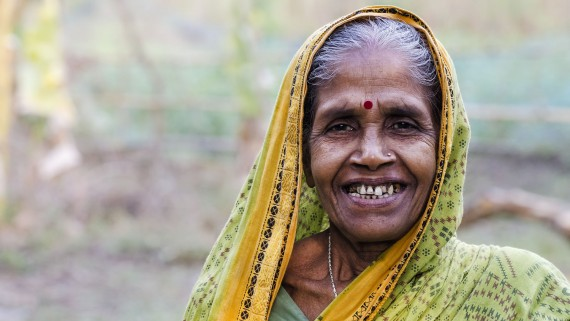 The bindi or red dot that Indian women wear on their foreheads