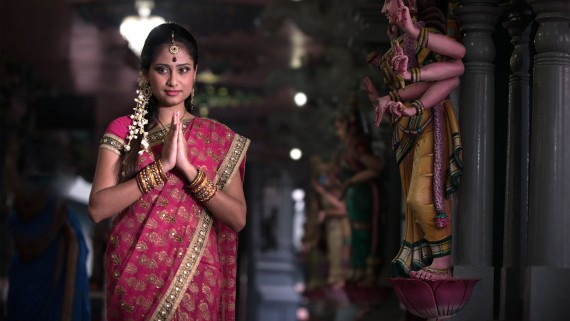 The sari, the best known garment in India