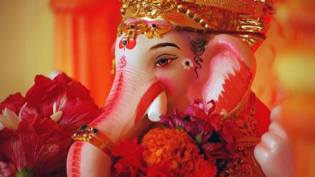 Ganesha, god of good luck and prosperity in India
