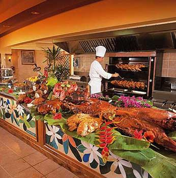Restaurant of the Intercontinental Resort Tahiti