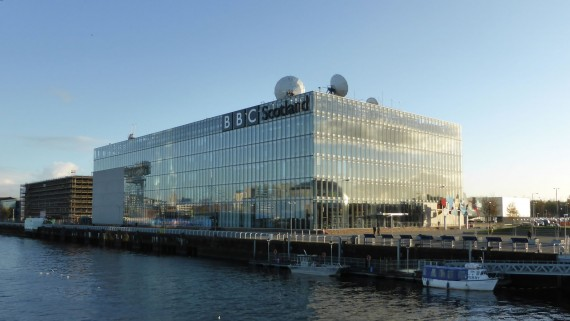 BBC Scotland building in Pacific Quay, Glasgow, Scotland