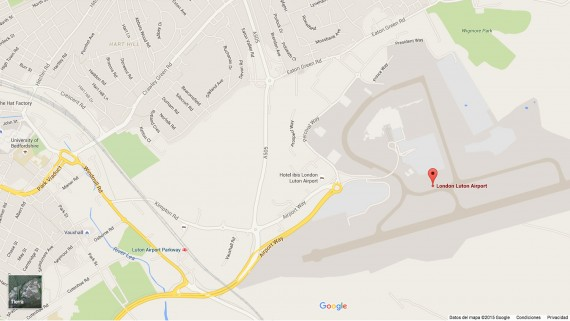London Luton Airport Map