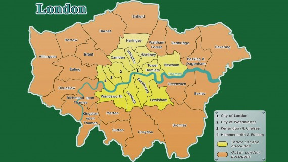 Map of London outside and London inside