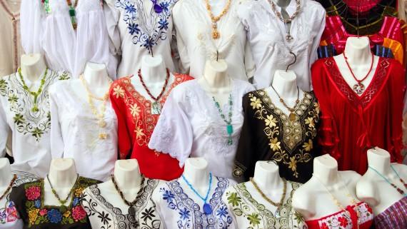 Yucatan traditional costume: the huipil
