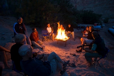 Camping on the campfire beach