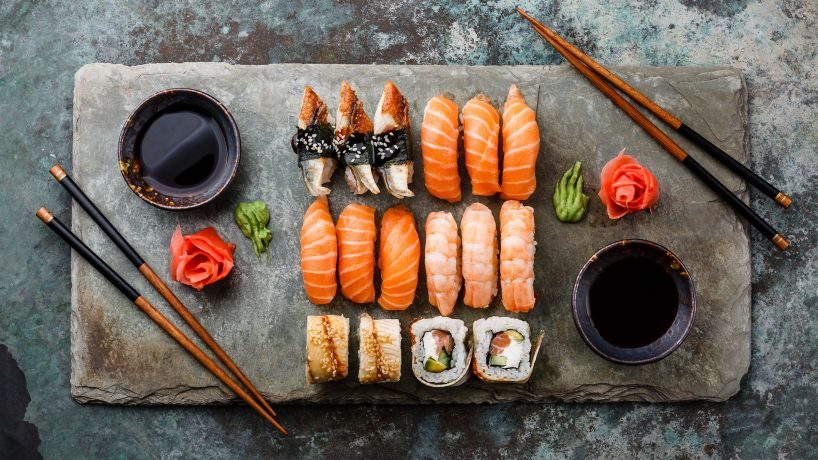 First steps in Japanese food Sushi