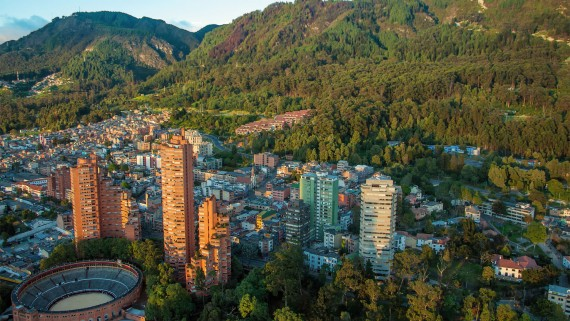 Aerial view of Bogotá (Colombia)