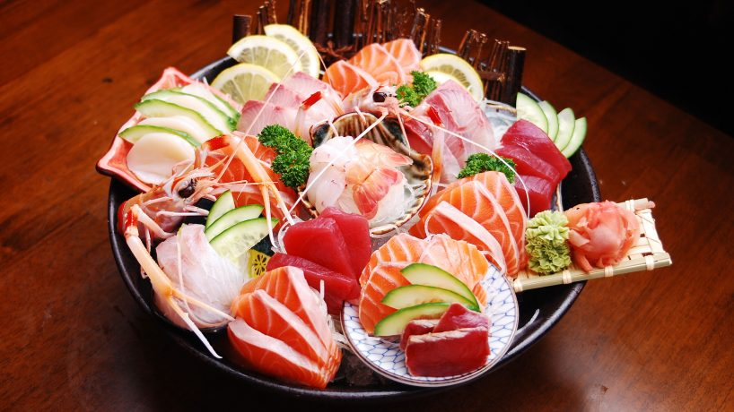 First steps in Japanese food Sashimi