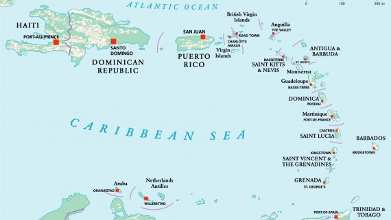Insular Central America Map