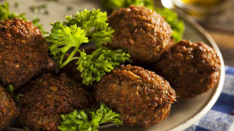 First steps in Arabic food Falafel