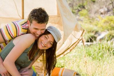 camping in Doñana as a couple