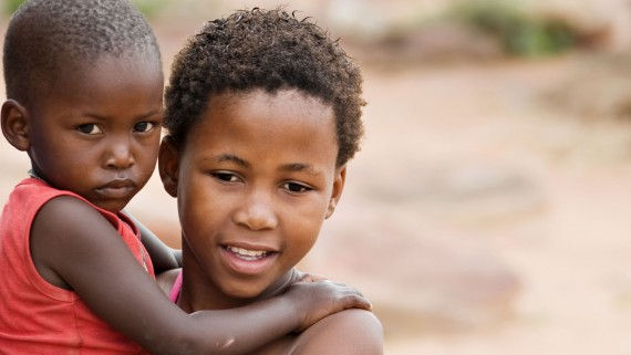 Children: those most affected by poverty in Africa