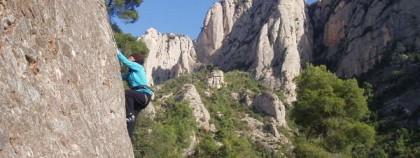 Climbing in Montserrat