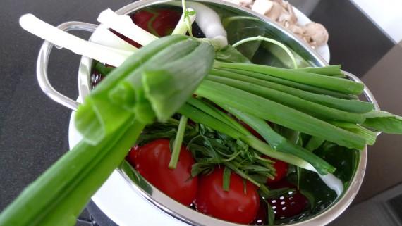 Ingredients for preparing fasolada