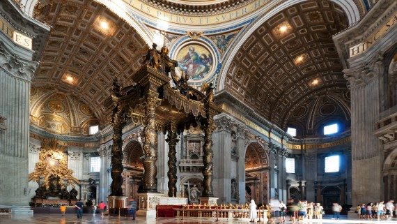 Interior of St. Peter's Basilica, Rome, Italy