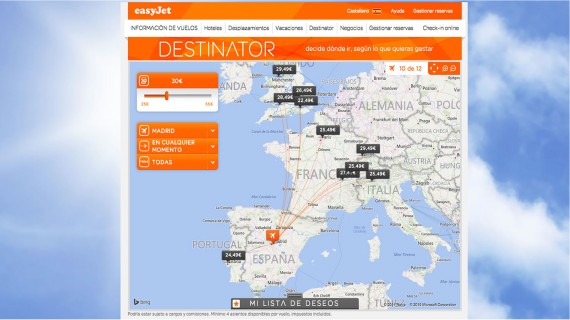 EasyJet destinations from Spain