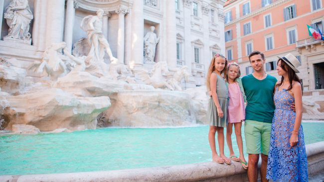Enjoy the attractions of Rome as a family