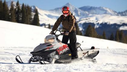 snowmobile in astun