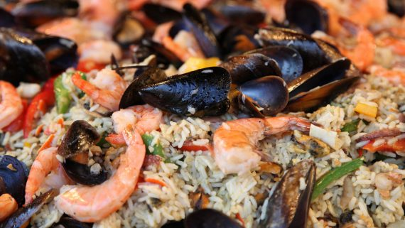 Seafood or seafood rice