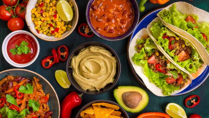 Typical tex-mex cuisine in North America