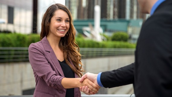 Greet each other with a handshake in England
