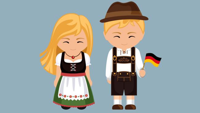 Dessin d'une robe allemande typique