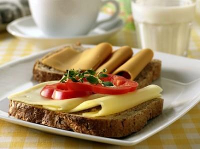 Lunch in rye bread