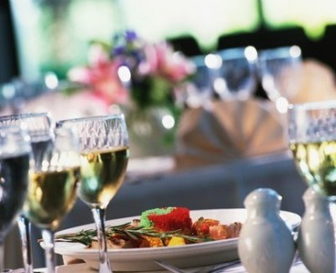 Luxury restaurants table