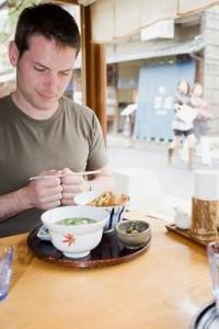 Japanese restaurants having lunch