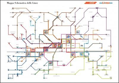 Plan de bus de la ville de Florence