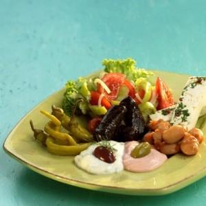 Greek restaurant salads