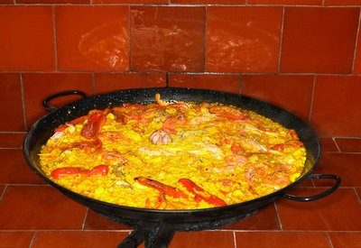 Galician marciso in the paella
