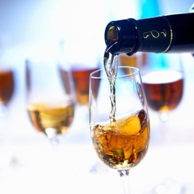 Sherry wines serving