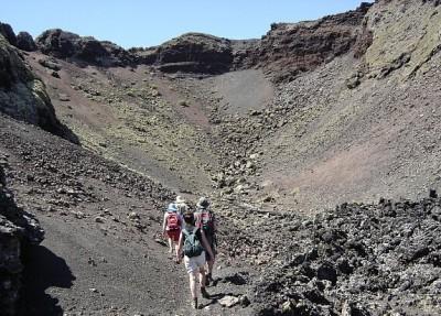 Routes between volcanoes