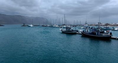 Harbor in La Graciosa