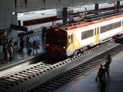 Train in Sevilla Renfe Station
