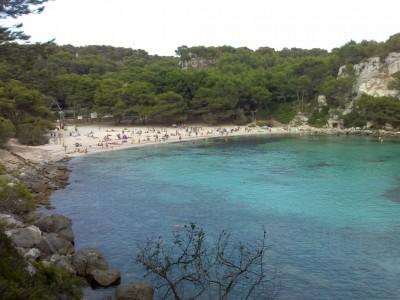 Macarella beach in Menorca