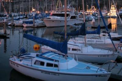 Boat in the port of Menorca