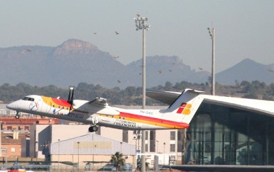 Take off at Valencia Airport