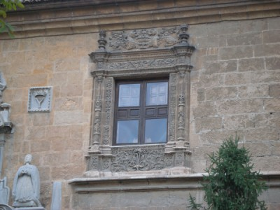 Detail of the windows of the Royal Hospital
