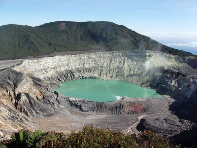 Crater of the Poás Volcano
