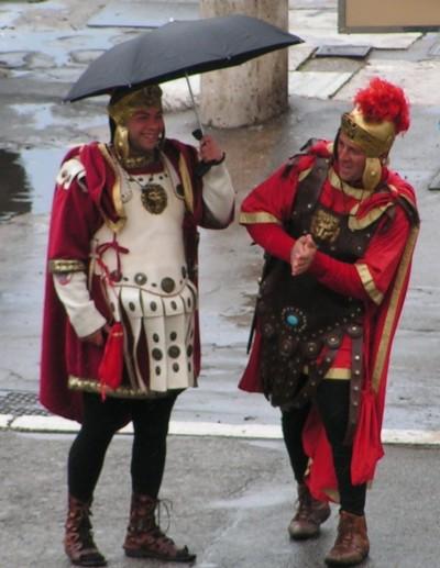 Gladiators in the rain