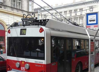 Trolebus in Budapest