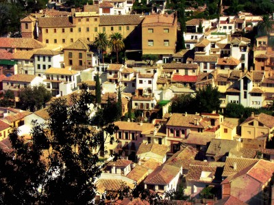 View of the Albaicín neighborhood of Granada