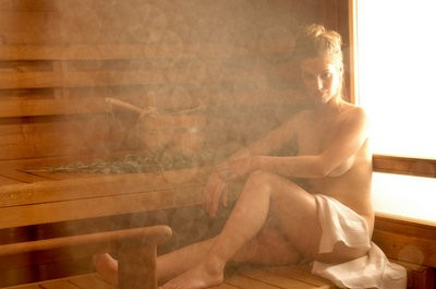 Finnish steam sauna