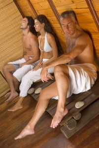 Finnish sauna relaxing
