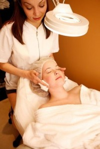 Spa treatments facial therapy